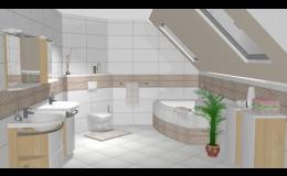 Nová koupelna, M&K, stavební servis spol. s r.o.