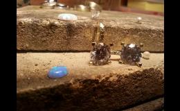 Náušnice, šperky, Zlatnictví Pavel Hegr