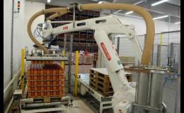 Manipulační a paletizační technologie, depaletizace, robotizace
