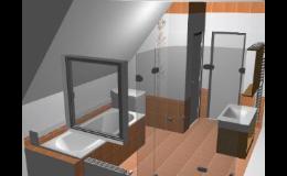 Grafické studio - 3D návrh koupelny