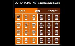 Nápojové automaty s instantní kávou