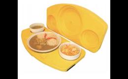 Tablety a boxy na přepravu stravy, kontaktní systém ohřevu stravy THERMOLINE A2