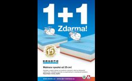KAFKA&ŠUBA: zdravotní matrace v akci 1+1 ZDARMA