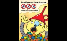 Plastožrout - sběr víček z PET lahví