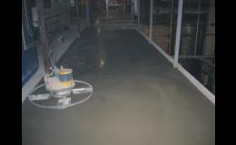 Betonové podlahy, PETR´S stavební, inženýrská s.r.o.