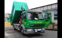 Přistavení kontejneru na odpad a odvoz odpadu na sběrný dvůr