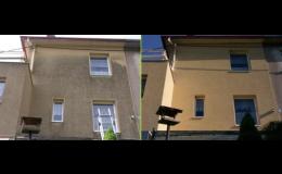 chemické čištění fasády - stav před a po