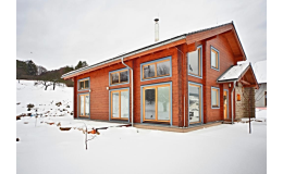 srubové domy s vůní dřeva