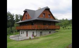 moderní srubové domy