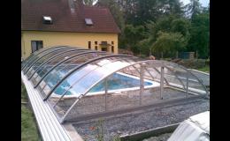 bazény včetně zastřešení