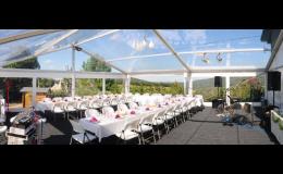 montované haly i party stany