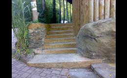 betonová dlažba, imitace kamene