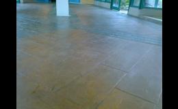 ražená dlažba, betonová dlažba a průmyslové podlahy