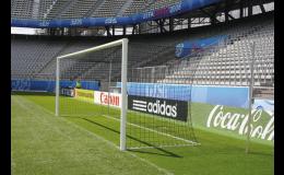 Fotbalová branka s volným zavěšením sítě