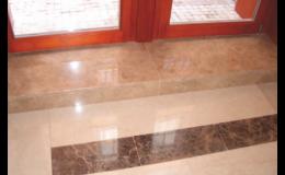 Kamenná dlažba, parapety i obklady