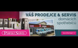 Prodej a servis elektrospotřebičů nabízí PERFEKT SERVIS.