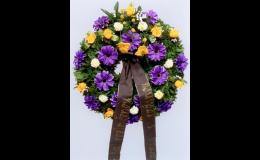 pohřeb Příbram - smuteční kytice