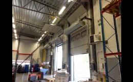 průmyslové vytápění haly