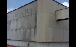 čištění a hydrofobizace fasády z mramoru