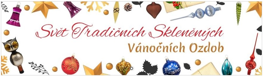 Skleněné vánoční ozdoby z Kalada Luhačovice