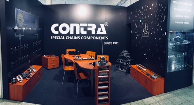 CONTRA Praha, s.r.o. - Výroba a prodej řetězů pro dopravníky, průmysl a motocykly.