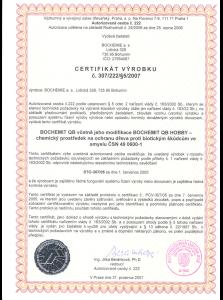 Certifikát impregnace dřeva