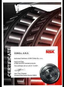 Autorizovaný distributor NSK