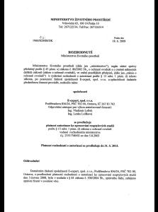 Autorizace ke zpracování rozptylových studií