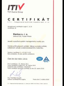 I.T.I. Certifikát Kanlux s.r.o.