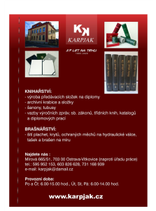 KARPJAK - knihařství, brašnářství 27 let na trhu