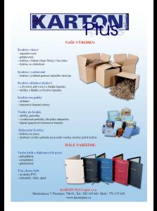 Prodej a výroba víkových, vysekávaných, skládacích obalových, dekoračních a paletových krabic a vložek do krabic
