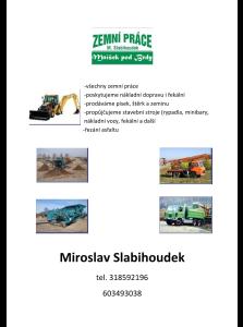 Miroslav Slabihoudek Zemni prace Praha zapad