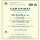 certifik�t managementu kvality, DK-ELVIS s.r.o. Drahom�r Kus�k - ELVIS