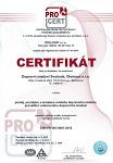 Certifikát ČSN EN ISO 9001:2016, PLATNOST DO 2019