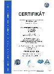 Certifikát ČSN EN ISO 9001:2009, FLUIDTECHNIK BOHEMIA, s.r.o.