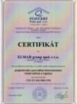 Certifikát systému jakosti ISO 9001, ELMAR group spol. s r.o.