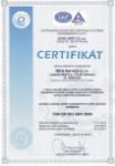 Jsme dr�itelem certifikace ISO 9001:2009, MKA Service s.r.o.