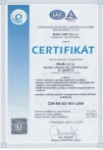 Certifikát ČSN EN ISO 9001:2009, Aledo s.r.o.