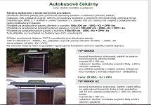 Katalog - autobusové čekárny, vybavení čekáren, informační plochy a vitríny, litinové lavičky, koše a přístřešky pro odpadové nádoby, směrníky a ukazatele