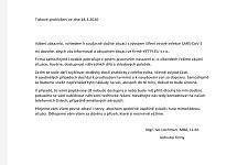 YETTY.EU a koronavirus - tiskové prohlášení ze dne 18.3.3030