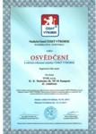 Osvědčení - Český výrobek, UVAX, s.r.o.