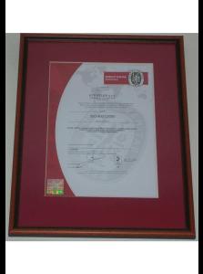 Certifikát ISO 9001:2000