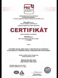 HAVAX a.s. Stavební firma Liberec