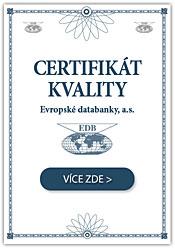 Náš certifikát v Evropské databance