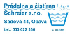 Pradelna a cistirna Schreier s.r.o prani a cisteni pradla Opava